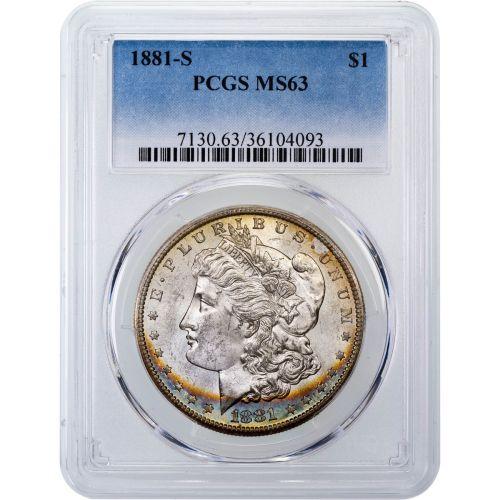 1881-S Morgan Dollar MS63 Toned