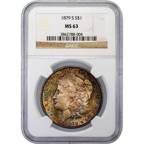 1879-S Morgan Dollar MS63 Toned