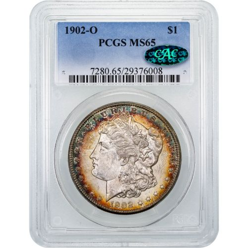 1902-O Morgan Dollar PCGS MS65 Toned