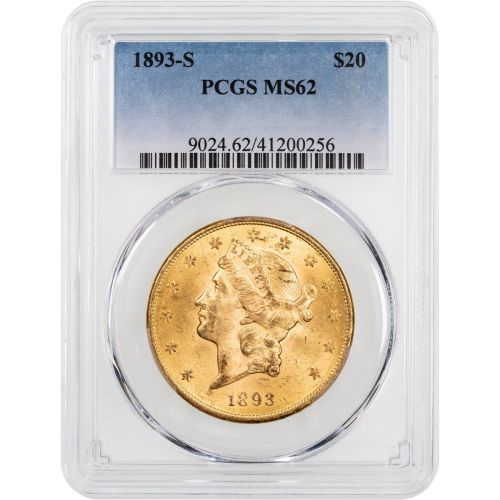 1893-S Liberty Head Gold Double Eagle MS62