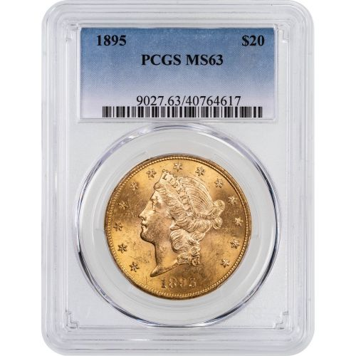 1895-P Liberty Head Gold Double Eagle MS63