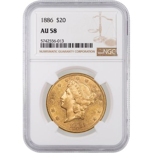 1886-P Liberty Head Gold Double Eagle NGC AU58