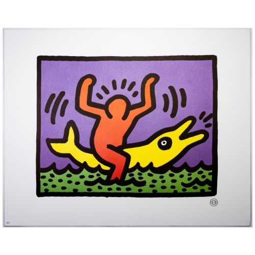 "Keith Haring, ""Untitled"" (Man on Dolphin)"