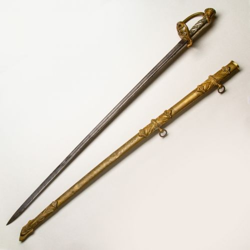 1850 Presentation Grade Staff and Field Officer's Sword by W. Clauberg