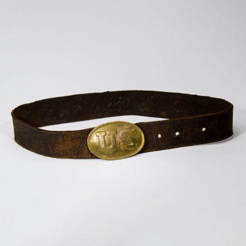 "Civil War US Oval Belt & Buckle 17"""