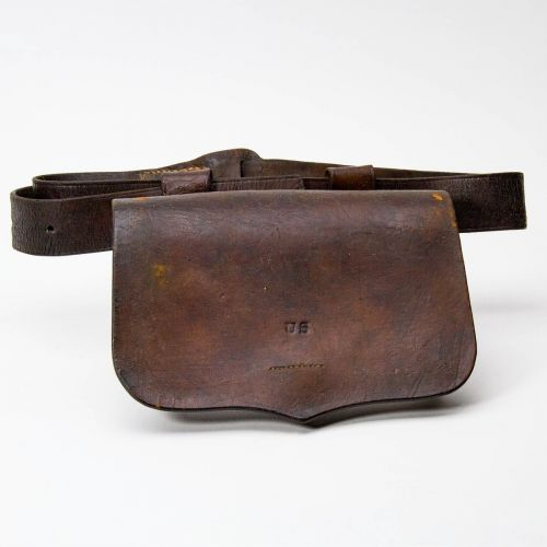 "Civil War Artillery Gunners Pouch & Belt 5"" x 8.2"""