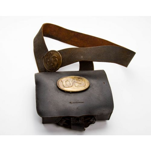 """Complete Civil War Cartridge Box with Sling 8"""" x 6.5"""""""