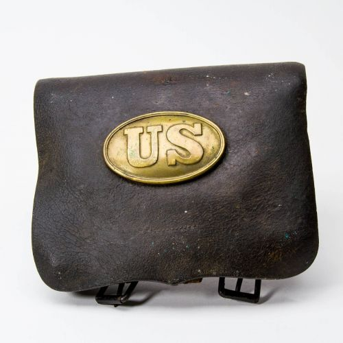 "Civil War Cartridge Box US Oval Plate 6.5"" x 8"""