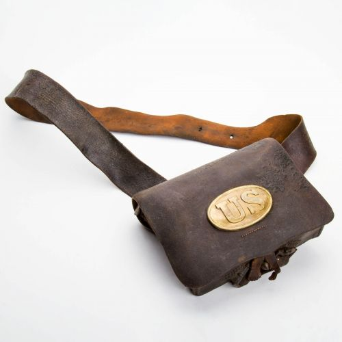 "Civil War Cartridge Box with Sling 6"" x 8"""