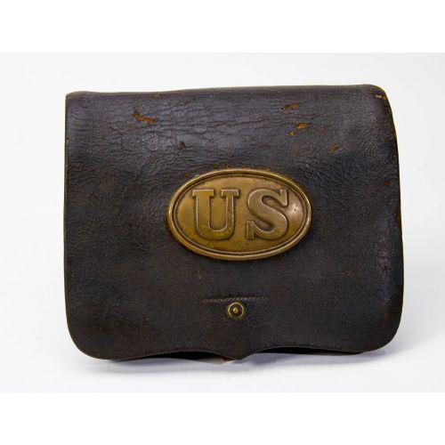 "Civil War Model 1855 Cartridge Box 6"" x 7.25"""