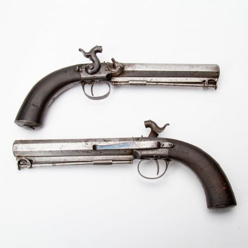 Pair of Single Shot Percussion Pistols