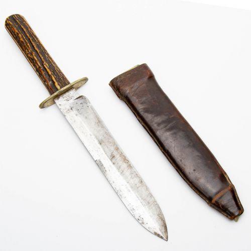 "Civil War Era Sheffield Bowie Knife 7"" Blade"