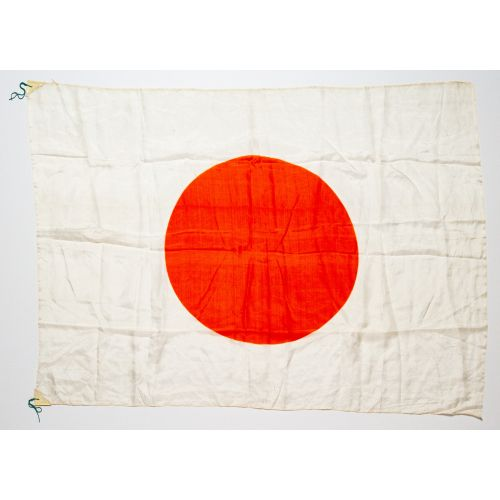 "Japanese World War II Hinomaru Military Flag 26"" x 35.5"""