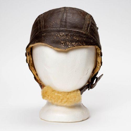 WWII B-5 Army Air Force Leather Flight Helmet