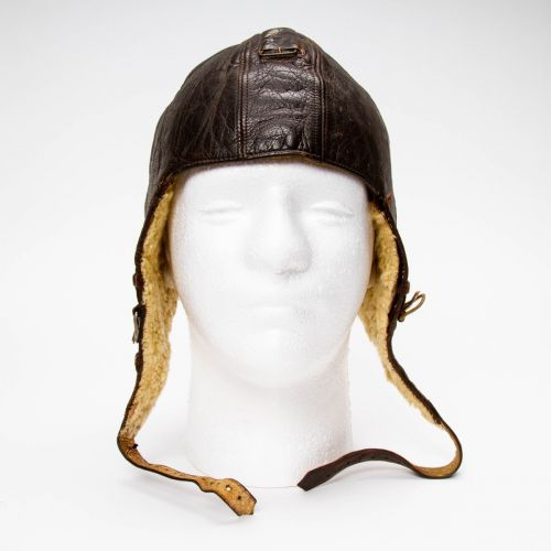 WWII German Leather Flight Helmet