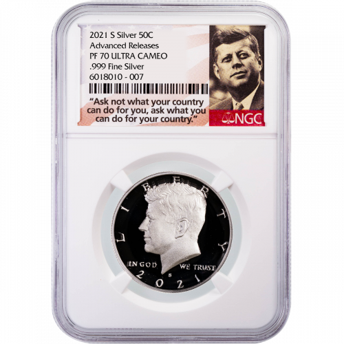2021-S .999 Silver Kennedy Half Dollar NGC PF70UCAM Advance Releases (Presale)