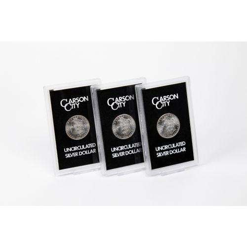 Set of 3: Carson City Mint GSA Morgan Silver Dollar Collection BU