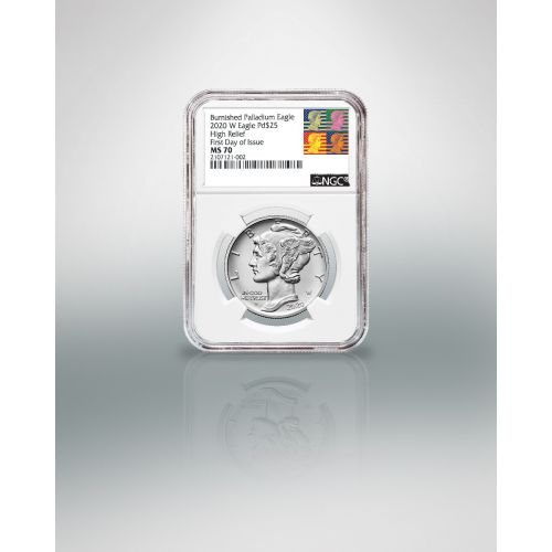 2020-W Burnished High Relief Palladium Eagle NGC MS70 FDI