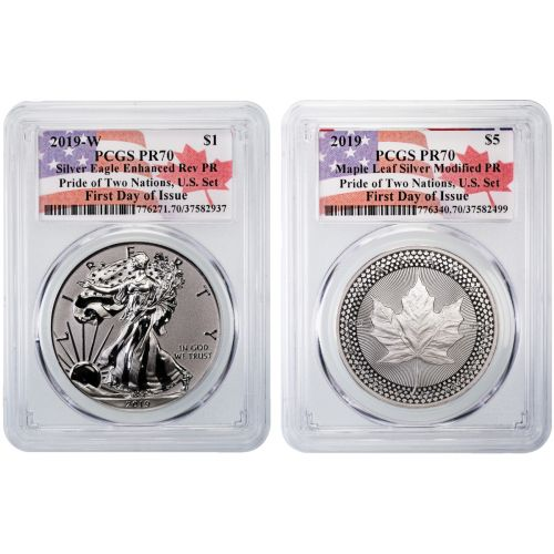 Pride of Two Nations Set 2019 PCGS FDOI