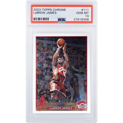Card 2003 Topps Lebron James Chrome PSA 10