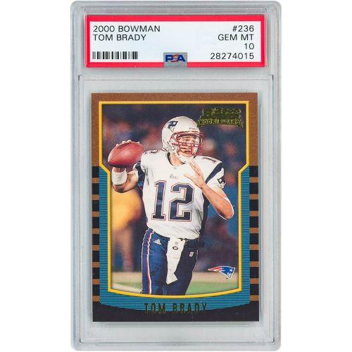 Card 2000 Bowman Tom Brady PSA 10