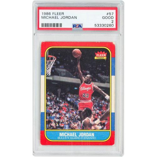 Card 1986 Fleer Michael Jordan PSA 2