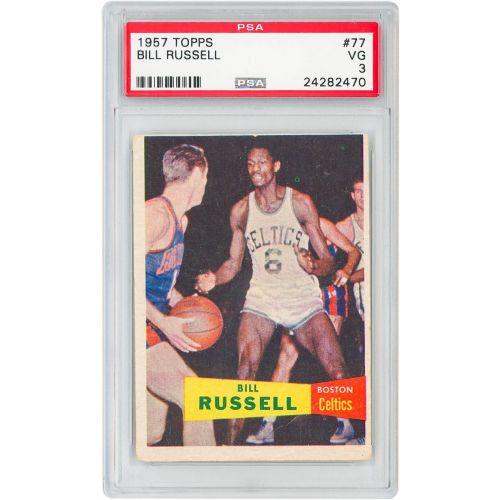 Card 1957 Topps Bill Russel PSA 3