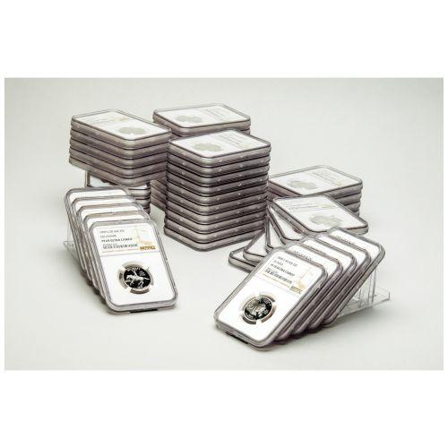 Set of 50: Complete Silver Statehood Quarter Set PF70 UCAM w/ 1999-S Delaware PF69 UCAM