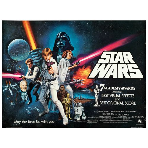"""""""Star Wars"""" 1978 Academy Awards Style Poster Very Fine+"""