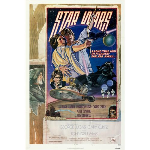 """""""Star Wars"""" 1978 Style D Folded One Sheet Poster Very Fine+"""