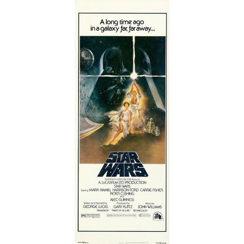 """""""Star Wars"""" 1977 Style A Rolled Insert Poster Near Mint"""