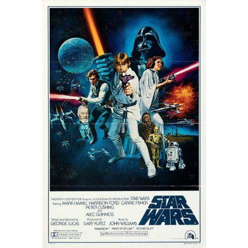 """Star Wars International"" 1977 Style C Flat Folded One Sheet Poster Very Fine"