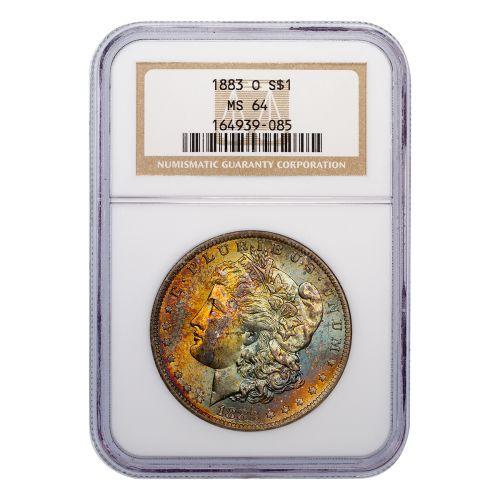 $1 1883-O Morgan Dollar NGC MS64 Toned