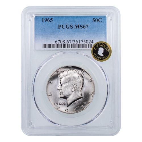1965-P Kennedy Half Dollar MS67 Everest