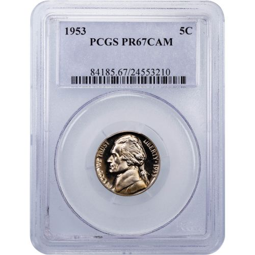 1953 Jefferson Nickel PR67 Cameo
