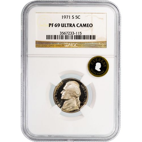 1971-S Jefferson Nickel PF69 Ultra Cameo Everest
