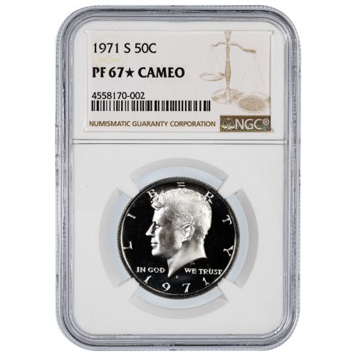 1971-S Kennedy Half Dollar PF67 Star Cameo