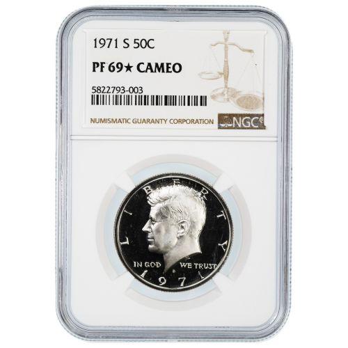 1971-S Kennedy Half Dollar PF69 Star Cameo