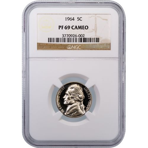 1964 Jefferson Nickel PF69 Cameo