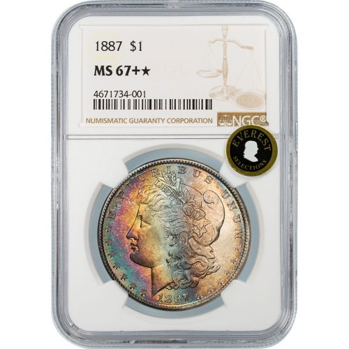 1887-P Morgan Dollar MS67+ Star EVEREST