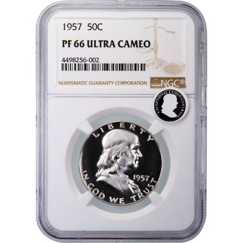 1957 Franklin Half Dollar PF66