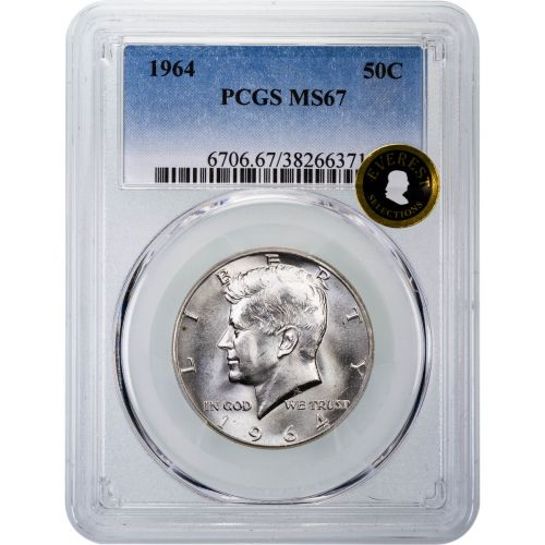 1964-P Kennedy Half Dollar MS67 Everest
