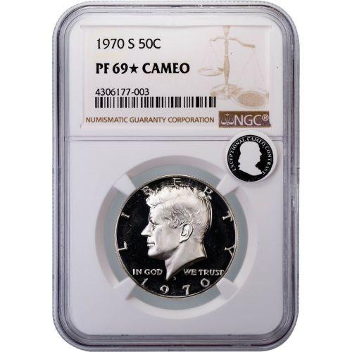 1970-S Kennedy Half Dollar PF69 Star Cameo ECC