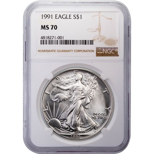 1991 American Silver Eagle MS70