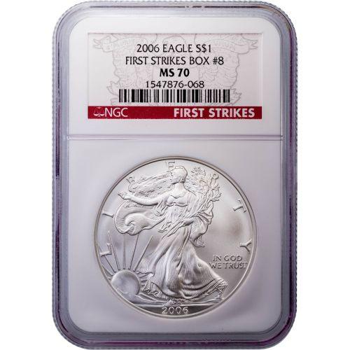 2006 American Silver Eagle MS70