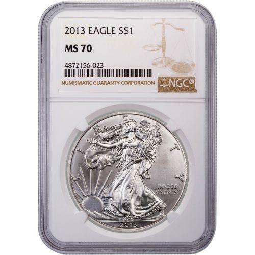 2013 American Silver Eagle MS70