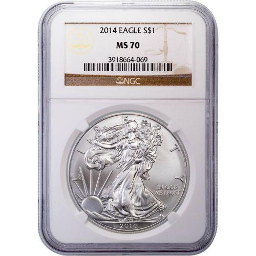 2014 American Silver Eagle MS70