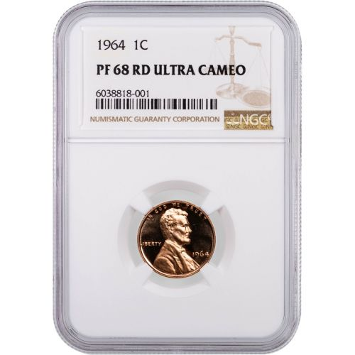 1964 Lincoln Cent NGC PF68RD UCAM