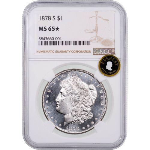 1878-S Morgan Dollar NGC MS65 Star Everest