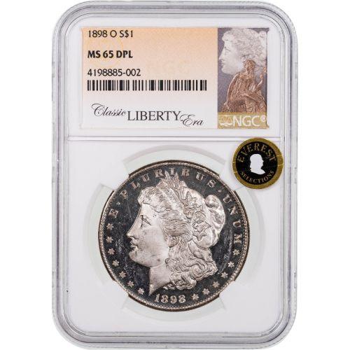 1898-O Morgan Dollar NGC MS65 DPL Everest